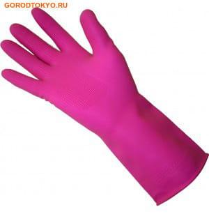 "MyungJin ""Rubber Glove Hook-Type"" Перчатки латексные хозяйственные, c крючком, размер S. (фото, вид 1)"