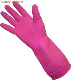 """MyungJin """"Rubber Glove Buyliving"""" Перчатки латексные хозяйственные удлинённые, с манжетой, размер M. (фото, вид 1)"""