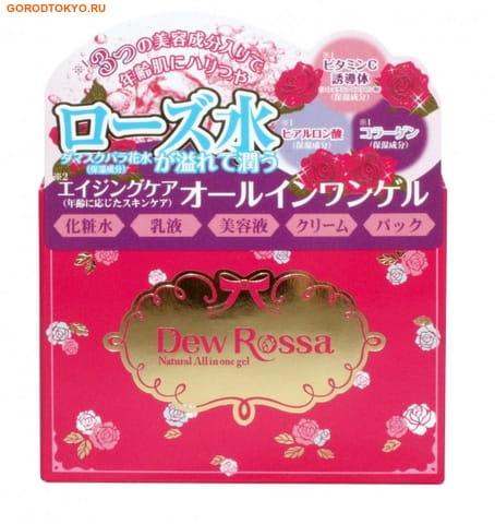 Cosmetex Roland Dew Rossa Гель 5 в 1 для зрелой кожи лица с розовой водой, коллагеном и гиалуроновой кислотой, 80 гр.