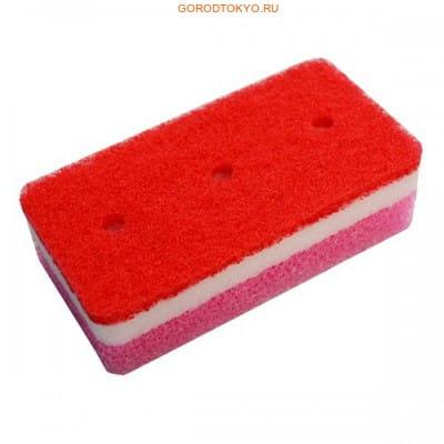 """Ohe Corporation """"Tafupon Medium Sponge R"""" Губка для мытья посуды (трёхслойная, верхний слой средней жёсткости). (фото, вид 1)"""