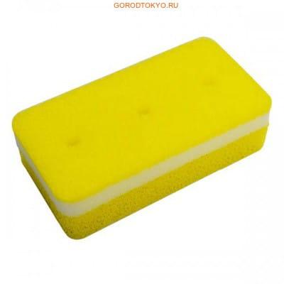 """Ohe Corporation """"Tafupon Soft Sponge Y"""" Губка для мытья посуды (трёхслойная, мягкий верхний слой). (фото, вид 1)"""