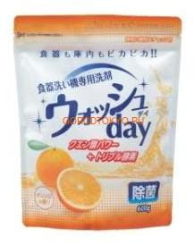 "Nihon ""Wash Day"" Средство для мытья посуды в посудомоечных машинах, 600 г. (фото, вид 1)"
