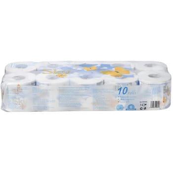 """Gotaiyo """"Sky"""" Трехслойная туалетная бумага с ароматом ментола (в индивидуальной упаковке), 10 рулонов. (фото, вид 1)"""