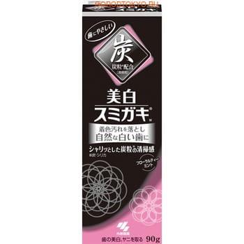 Kobayashi Паста зубная отбеливающая c углем и ароматом цветочного чая, 90 гр. (фото, вид 1)