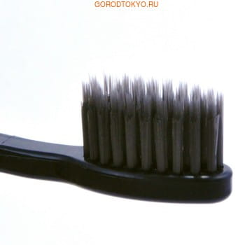 """Dental Care """"Nano Charcoal Toothbrush Set"""" Зубная щётка c древесным углём и сверхтонкой двойной щетиной (средней жёсткости и мягкой), 4 шт. (фото, вид 1)"""