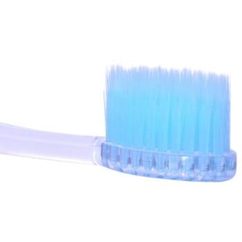 DENTAL CARE «Xylitol Toothbrush» Зубная щётка «Ксилит» cо сверхтонкой двойной щетиной (средней жёсткости и мягкой) и прозрачной прямой ручкой, 1 шт. (фото, вид 1)