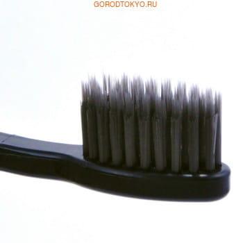 """Dental Care """"Nano Charcoal Toothbrush"""" Зубная щётка c древесным углём и сверхтонкой двойной щетиной (средней жёсткости и мягкой) и изогнутой ручкой, 1 шт. (фото, вид 1)"""