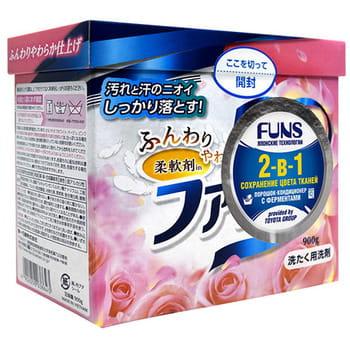 """Daiichi """"Funs"""" Стиральный порошок концентрированный 2-в-1 с кондиционирующим эффектом, 900 г. (фото, вид 2)"""