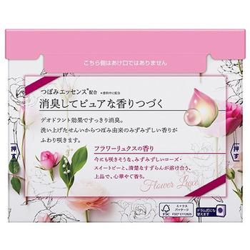 KAO «New Beads Fragrance» Стиральный порошок со смягчителем, с ароматом ландыша и розы, для белого и цветного белья, 800 гр. (фото, вид 2)