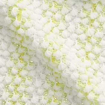 "Aisen ""Whipped Color Shiratama"" Массажная мочалка для тела, мягкая, лайм и лимон, 20 х 100 см, 1 шт. (фото, вид 1)"