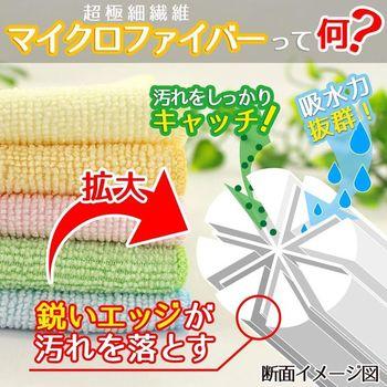 LEC Салфетки из микрофибры для влажной и сухой уборки, цветные, размер 27 х 27 см., 5 шт. (фото, вид 1)