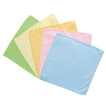 LEC Салфетки из микрофибры для влажной и сухой уборки, цветные, размер 27 х 27 см., 5 шт. (фото, вид 2)