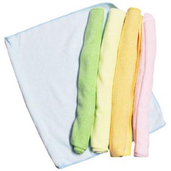 LEC Салфетки из микрофибры для влажной и сухой уборки, цветные, размер 27 х 27 см., 5 шт. (фото, вид 3)