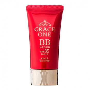 """KOSE Cosmeport """"Grace One"""" Увлажняющий BB-крем для лица """"Все в одном"""", после 50 лет, натуральный бежевый, SPF35, туба 50 гр. (фото, вид 1)"""