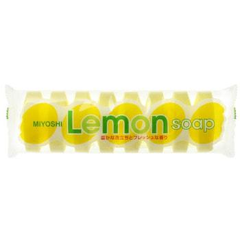 Miyoshi Туалетное мыло для всей семьи с ароматом лимона, 8 шт.* 45 гр. (фото, вид 1)