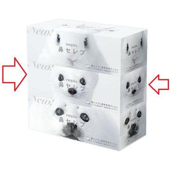 """Nepia """"Funny Noses - Весёлые носики - Белоснежный Песец"""" Салфетки бумажные, 200 шт. в коробке. (фото, вид 1)"""