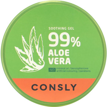"""Consly """"Aloe Vera Soothing Gel"""" Успокаивающий гель с экстрактом алоэ вера, 300 мл. (фото, вид 1)"""