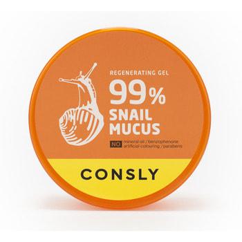 """Consly """"Snail Mucus Regenerating Gel"""" Восстанавливающий гель с муцином улитки, 300 мл. (фото, вид 1)"""