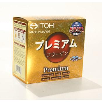 """ITOH KANPO PHARMACEUTICAL """"Premium Сollagen"""" - Низкомолекулярный рыбный премиум коллаген с добавлением 9-ти активных компонентов для красоты и здоровья, 30 саше по 6,5 гр. (фото, вид 1)"""