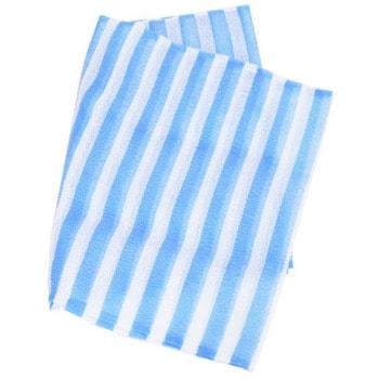 """AISEN """"Nylon Men's Hard"""" Мочалка массажная мужская удлиненная, жесткая, синяя в полоску, 28х120 см (фото, вид 1)"""