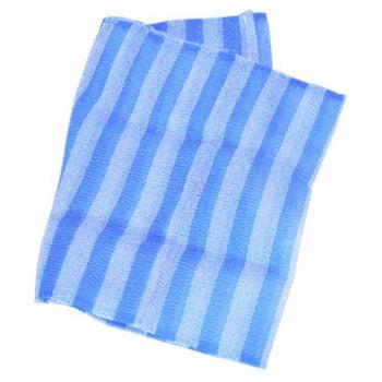 """Aisen """"Nylon Men's"""" Мочалка массажная мужская сверхжесткая, удлиненная, синяя в полоску, 28Х120 см. (фото, вид 1)"""