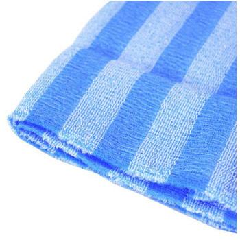"""Aisen """"Nylon Men's"""" Мочалка массажная мужская сверхжесткая, удлиненная, синяя в полоску, 28Х120 см. (фото, вид 2)"""