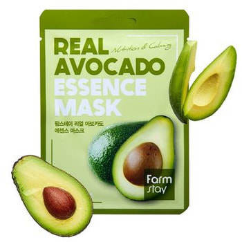 "FarmStay ""Real Avocado Essence Mask"" Тканевая маска для лица с экстрактом авокадо, 1 шт. (фото, вид 1)"