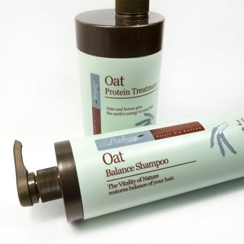 "JPS ""Balance Shampoo"" Восстанавливающий шампунь с экстрактом овса, 1000 мл. (фото, вид 1)"