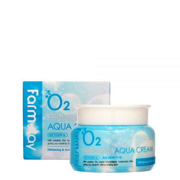 "FarmStay ""Premium Aqua Cream"" Увлажняющий крем с кислородом, 100 гр. (фото, вид 1)"