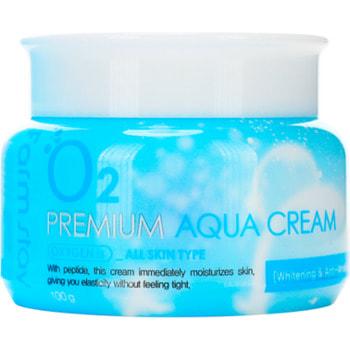 "FarmStay ""Premium Aqua Cream"" Увлажняющий крем с кислородом, 100 гр. (фото, вид 2)"