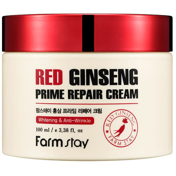 "FarmStay ""Red Ginseng Prime Repair Cream"" Восстанавливающий крем с экстрактом красного женьшеня, 100 мл. (фото, вид 1)"