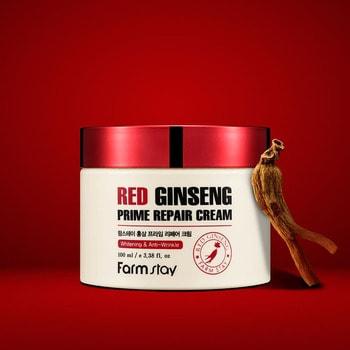 "FarmStay ""Red Ginseng Prime Repair Cream"" Восстанавливающий крем с экстрактом красного женьшеня, 100 мл. (фото, вид 2)"