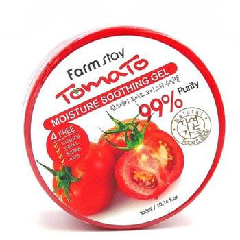 "FarmStay ""Tomato Moisture Soothing Gel"" Увлажняющий успокаивающий гель с экстрактом томата, 300 мл. (фото, вид 1)"