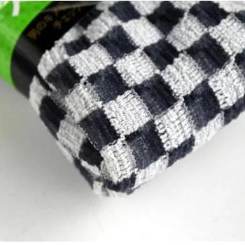 """Aisen """"Men's Skin Texture"""" Мочалка массажная мужская жесткая, удлиненная, 28Х120 см., черно-белая (фото, вид 1)"""