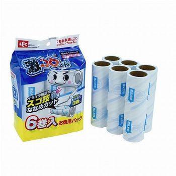 LEC Сменные блоки липкой ленты для чистки ковров, с низким ворсом, 6 шт. (фото, вид 1)