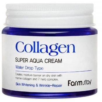 "FarmStay ""Collagen Super Aqua Cream"" Суперувлажняющий крем с коллагеном, 80 мл. (фото, вид 1)"