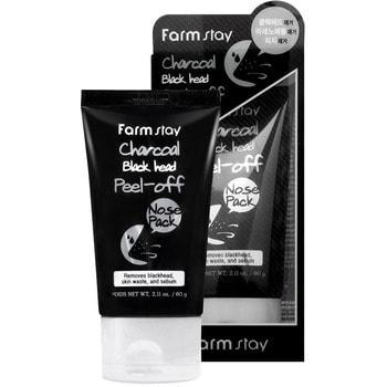 """FarmStay """"Charcoal Black Head Peel-off Nose Pack"""" Маска-пленка с углем для носа, 60 гр. (фото, вид 1)"""