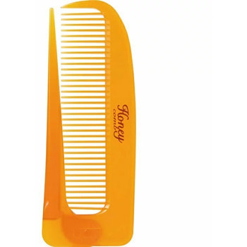 """Vess """"Honey Brush"""" Расчёска для увлажнения и придания блеска волосам с мёдом и маточным молочком пчёл, складная. (фото, вид 2)"""