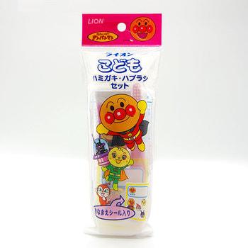 """Lion """"L pack Anpanman"""" Детский мини-набор - зубная щетка для детей от 1,5 до 5 лет и зубная паста со вкусом клубники, 50 г. (фото, вид 1)"""