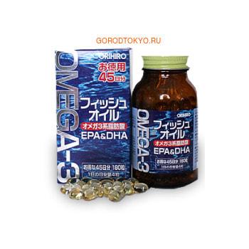 Orihiro Омега-3, 180 мягких капсул. (фото, вид 1)
