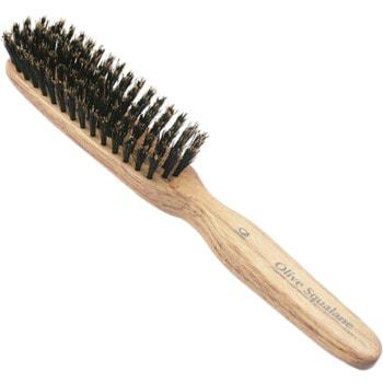 """Ikemoto """"Olive Squalane Impregnated Brush"""" Расческа с натуральной щетиной и оливковым скваланом. (фото, вид 1)"""