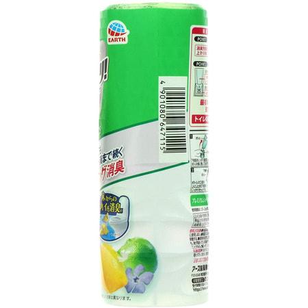 """Earth Biochemical """"Sukki-ri!"""" Жидкий дезодорант-ароматизатор для туалета, с фруктовым ароматом, """"Премиальный цитрус"""", 400 мл. (фото, вид 1)"""