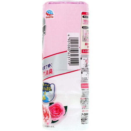"Earth Biochemical ""Sukki-ri!"" Жидкий дезодорант-ароматизатор для туалета, с цветочным ароматом, ""Белые цветы"", 400 мл. (фото, вид 1)"