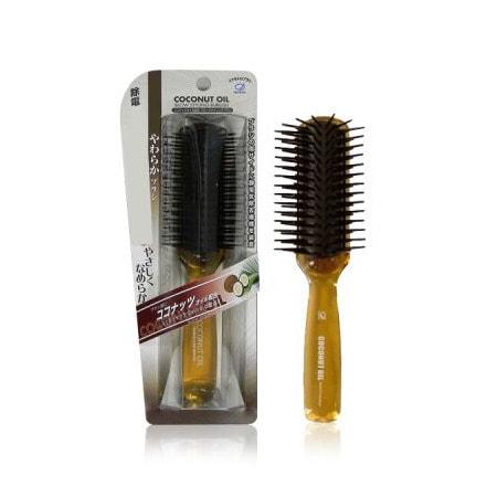 """Ikemoto """"Coconut Blow Styling Brush"""" Щетка для волос с кокосовым маслом, 1 шт. (фото, вид 1)"""