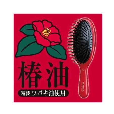 """Ikemoto """"Tsubaki Oil Combination Cushion Brush"""" Щетка для ухода и восстановления поврежденных волос, с маслом камелии японской, 1 шт. (фото, вид 3)"""