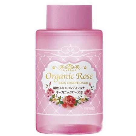 """Meishoku """"Organic Rose Skin Conditioner"""" Лосьон-кондиционер для кожи лица с экстрактом дамасской розы, 200 мл. (фото, вид 1)"""
