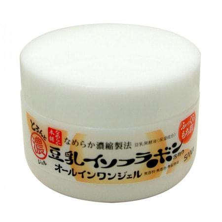 """Sana """"Soy Milk Gel Cream"""" Крем-гель увлажняющий с изофлавонами сои 6 в 1, 100 г. (фото, вид 1)"""