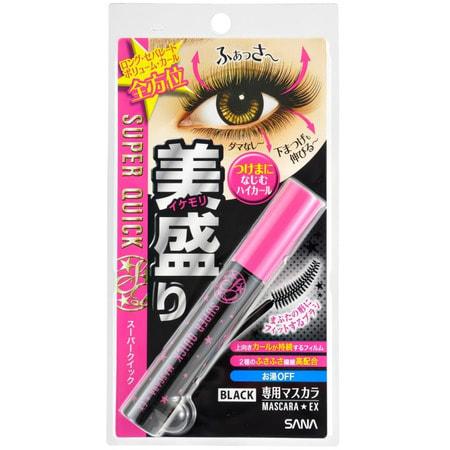 """Sana """"Sana Maskara"""" Тушь для ресниц (удлинение + объем с эффектом подкручивания и разделения ресниц), цвет - насыщенно-чёрный. (фото, вид 4)"""