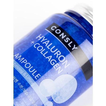 """Consly """"Hyaluronic Acid & Collagen All-in-One Ampoule"""" Многофункциональная укрепляющая ампульная сыворотка, с гиалуроновой кислотой и коллагеном, 250 мл. (фото, вид 1)"""
