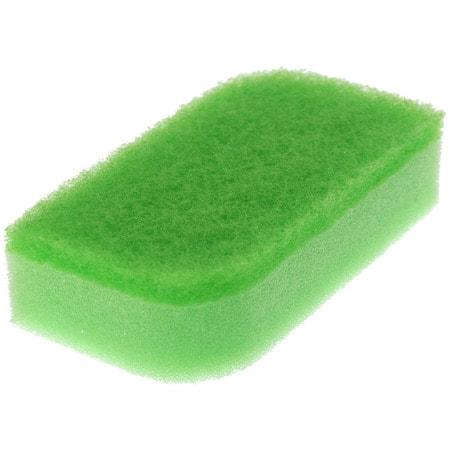 """Kikulon """"Kokin Sponge Scourer Non Scratch Green"""" Губка для посуды двухслойная, с антибактериальной пропиткой, верхний слой средней жесткости, 12 Х 6,5 см., 2 шт. (фото, вид 1)"""